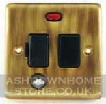 Standard Plate Antique Bronze Fused Spur Switches